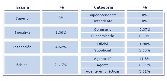Distribuci por Escalas y Categors